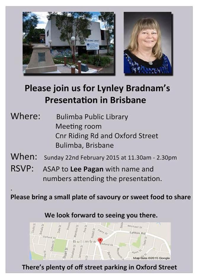 lynley BradnamBrisbane presentation