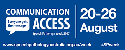 Speech Pathology Week 2017