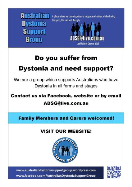 Australian Dystonia Support Group Poster