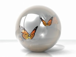 Butterfly In A Bubble by njaj