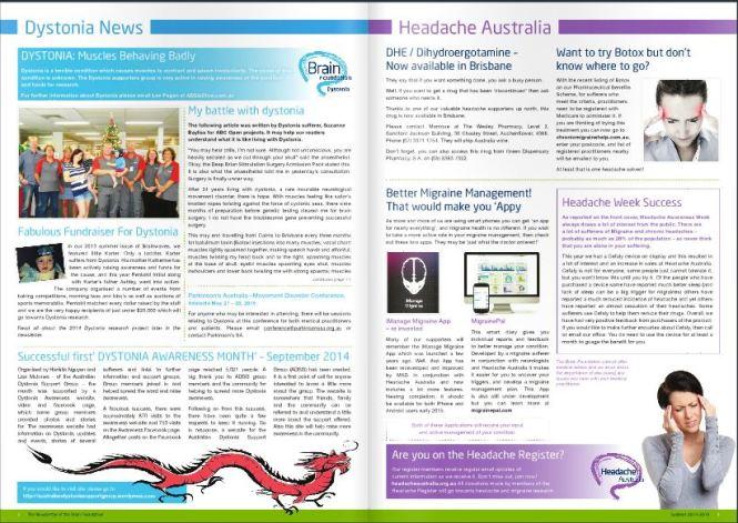 Source: http://issuu.com/brainfoundation/docs/2014_summer_brainwaves_newsletter/1