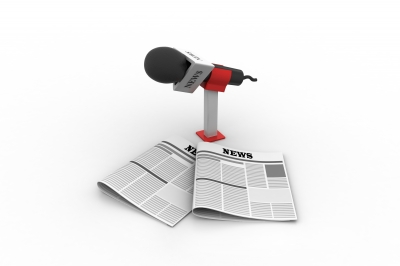 """Microphone With Newspaper"" by Rendeeplumia"