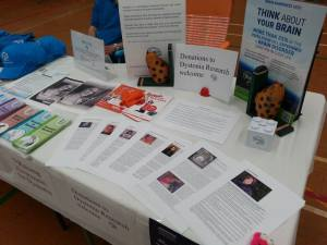 Dystonia Awareness Market Stall