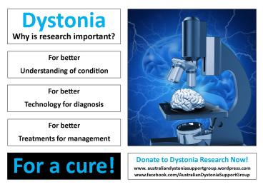 Why is dystonia research important j