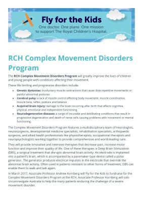Complex Movement Disorders Program