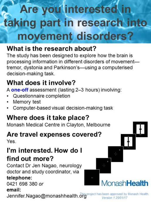 Investigating attention and decision-making in motor disorders