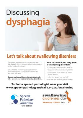 Let's talk about Swallowing Disorders