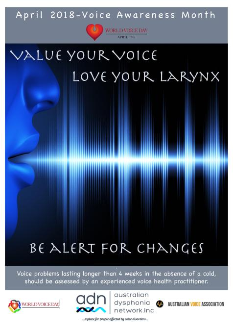 Voice Awareness Month Australian Dysphonia Network