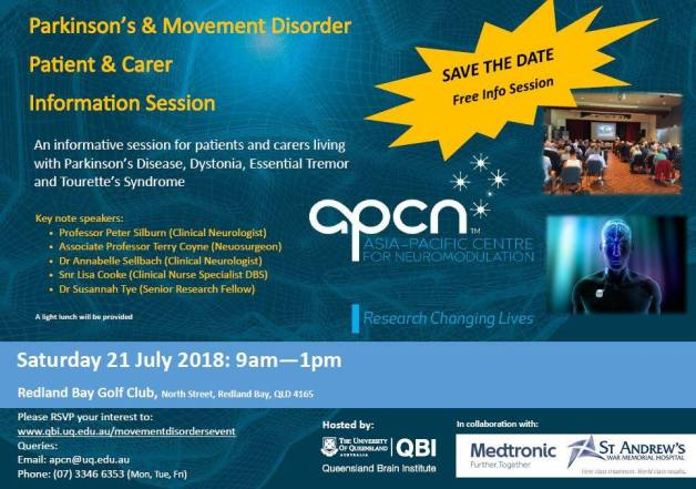 Parkinson's & Movement Disorders Information Session for Patients & Carers