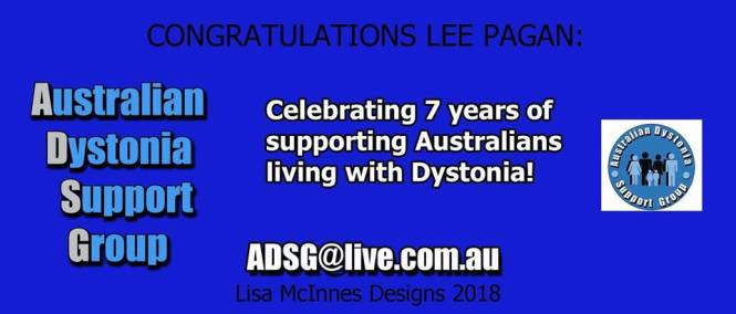 Australian Dystonia Support Group 7th Birthday!