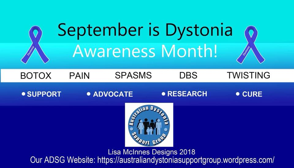 dystonia awareness month australian dystonia support group