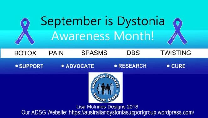 Dystonia Awareness Month 2018